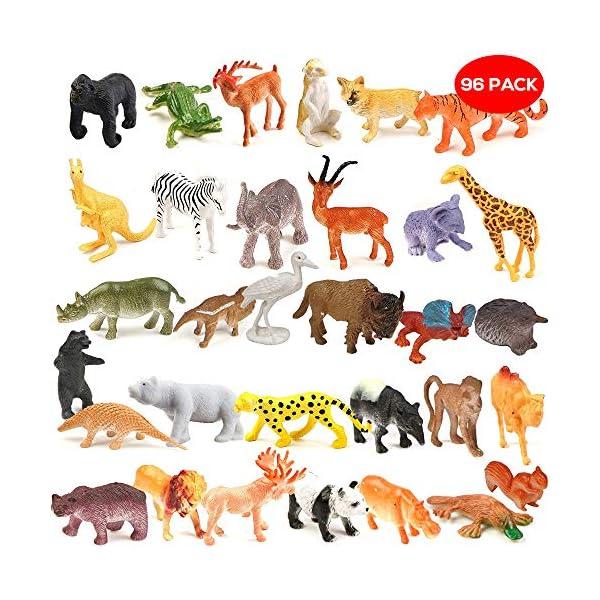 Set de 6 Infantil Granja Animales Juego Acción Figuras Plástico Juguete