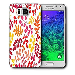 Snoogg Colorful Leaves Printed Protective Phone Back Case Cover For Samsung Galaxy SAMSUNG GALAXY ALPHA