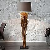 lounge-zone Stehleuchte Stehlampe Lampe Leuchte Wohnzimmerleuchte Designleuchte EMPORIA Treibholz grau-braun Höhe: 175cm #13306