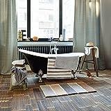 ESPRIT Block Stripe Moderner Markenteppich, Polyester, Grau, 100 x 60 x 2 cm