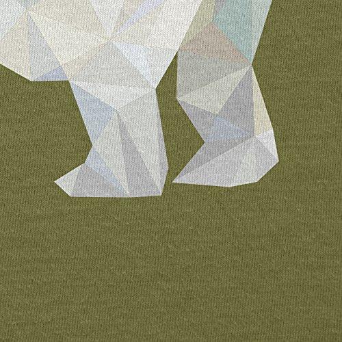 TEXLAB - Poly Polar Bear - Herren T-Shirt Oliv