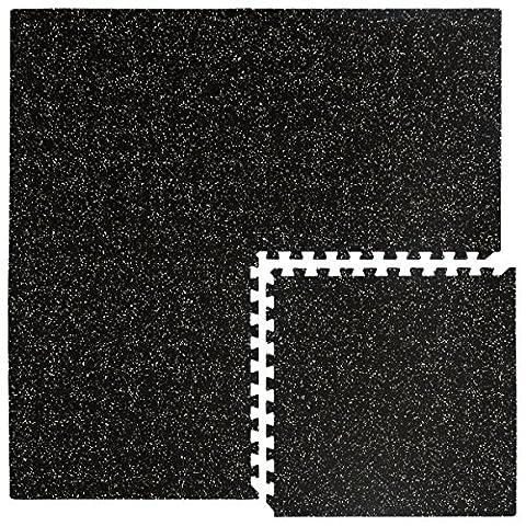 eyepower Protections Sol en mousse EVA et caoutchouc Tapis Puzzle de fitness bricolage composé de 4 fragments dimension globale 1,54qm extensible