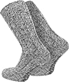 2 Paar Antirutsch Norweger Socken mit ABS Sohle