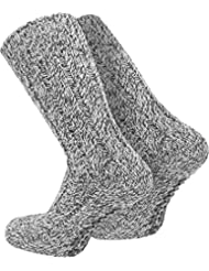 2 Paar normani® Antirutsch Norweger Socken mit ABS Sohle