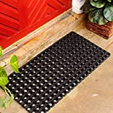 #9: Vansh Trade Rubber Zoom Door Mat-Black 18x30