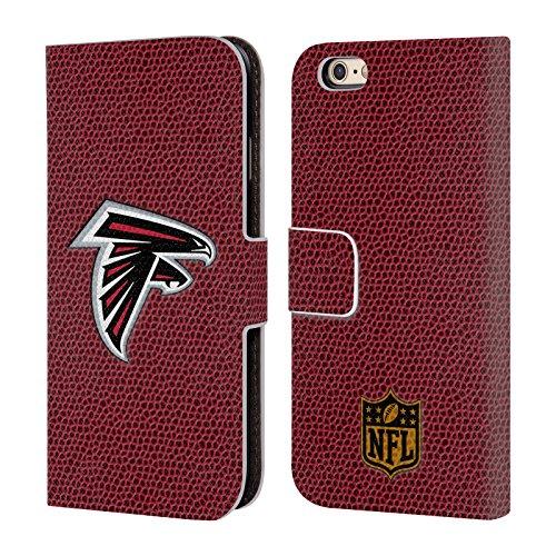 Offizielle NFL Helm Atlanta Falcons Logo Brieftasche Handyhülle aus Leder für Apple iPhone 5 / 5s / SE Fussball