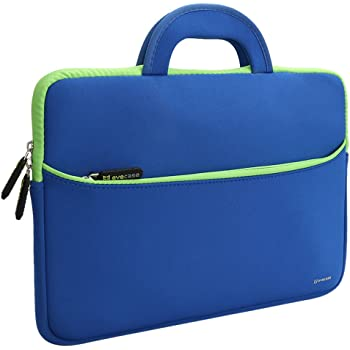 Laptop Custodia, Evecase Universale Ultraportabile Sleeve Borsa in Neoprene con Manici 13.3-14 Pollci pollici per PC, Computer Portatile, MacBook Pro, Ultrabook, Notebook - Blu/Verde