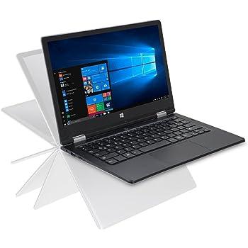 iOTA 360 11.6'' Convertible Touch HD Laptop (Silver) - (Intel Quad Core Atom Z8350 (Burst 1.92GHz) Processor, 2 GB RAM, 32 GB eMMC Storage, QWERTY UK Keyboard, Windows 10)