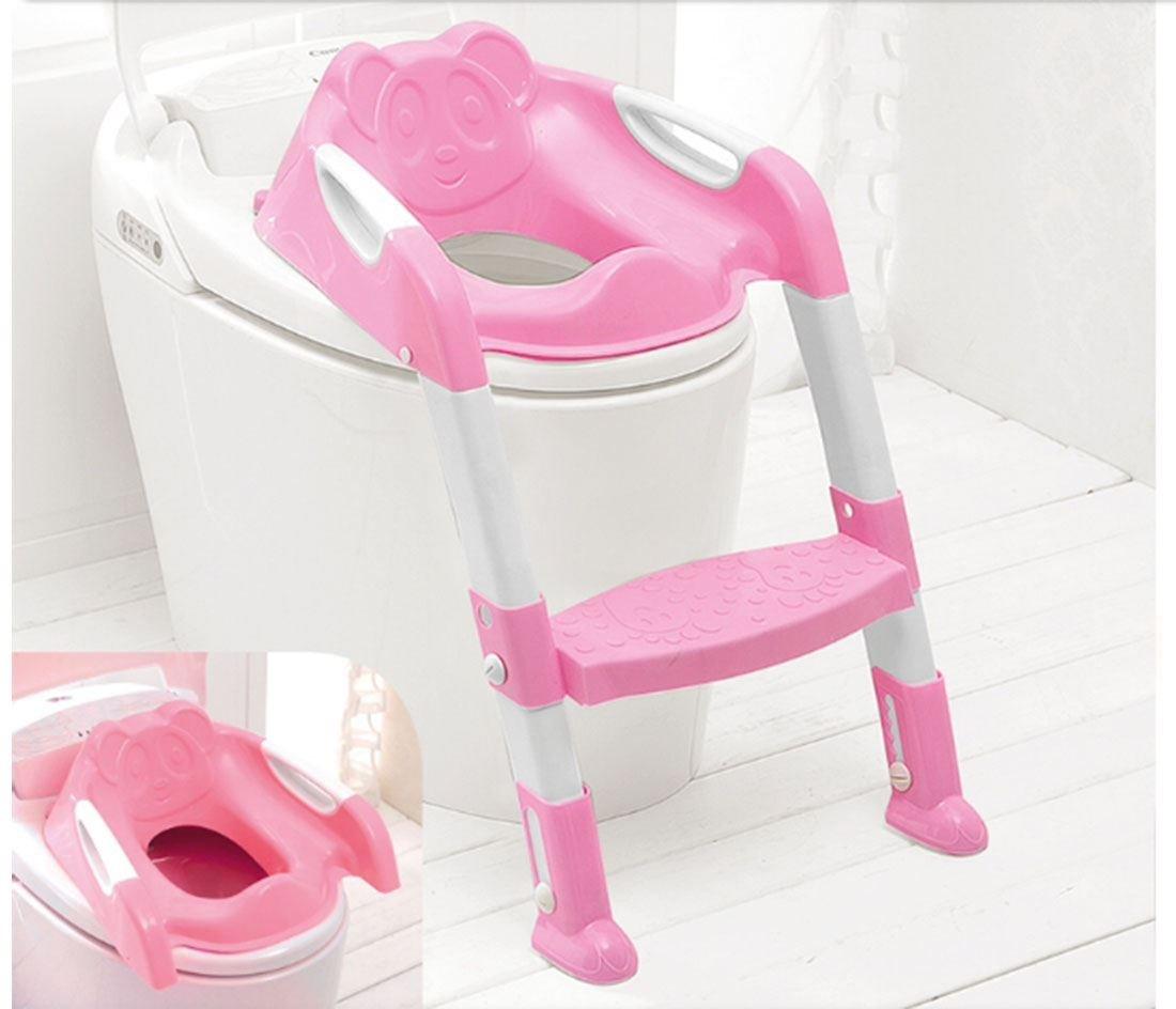 baby toddler potty training toilet ladder seat steps pink. Black Bedroom Furniture Sets. Home Design Ideas