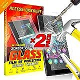 Access-Discount *** INCASSABLE X2 *** 2 FILM PROTECTION Ecran SONY XPERIA E5 VERRE trempé protecteur d'écran INVISIBLE & INRAYABLE vitre pour Smartphone Xpéria E 5 4g LTE filtre