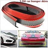 #10: Autotrends Samurai Black Red Carbon Fiber Look Car Body Kit Bumper Lip Side Skirt Rubber Edge Decorative Protector Trim