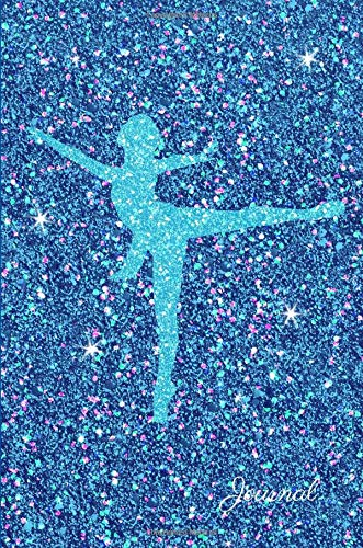 Journal: Turquoise Ballerina Dancer Blue Purple Faux Glitter Lined Paper Dairy Notebook | Gift for Adults and Kids por MSquared Glitter Designs