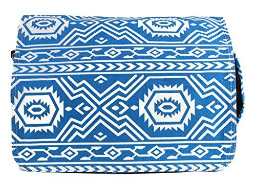 555 Borsa Firmata Borsa A Tracolla Con Stampa Etno Borsa A Tracolla Nero Bianco (azzurro) Hellbla