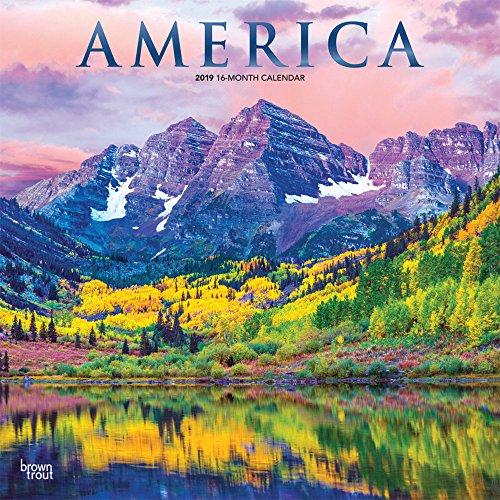 America - Amerika 2019 - 18-Monatskalender mit freier TravelDays-App: Original BrownTrout-Kalender por Inc Browntrout Publishers