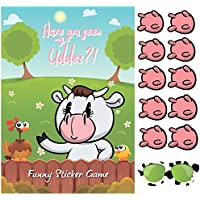 Happium Party Game Pin the Udder on the Cow X 24 udders