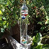 Out of the Blue Glas-Galileothermometer, 28 x 8 x 7 cm