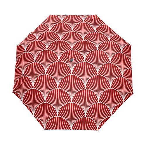 Compact Travel Regenschirm Sea Shel Auto Open Close Regenschirm Windproof Anti-UV