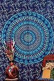 Handicrunch Blau Camle Mandala Teppich, indischen Hippie Wandbehang, böhmischer Zwilling Wandbehang, Tagesdecke Strand Coverlet Werfen Dekor Kunst
