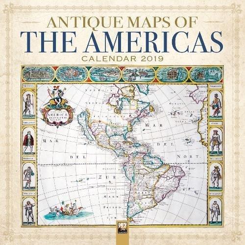 Antique Maps of the Americas Wall Calendar 2019 (Art Calendar)