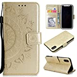 Roreikes iPhone X Hülle,iPhone 10 Hülle, Brieftasche PU Handyhülle Flip Case