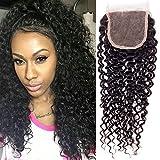 Wendy Hair 9A Grade 1x brasilianisches Echthaar 20,3cm 4* 4gratis Teil Curly Lace Schließung Hair, seidig unbehandeltes Haar weben Spitze Schließung natur schwarz Farbe