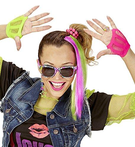80er Jahre Party Set 6 teilig Neon-Farben Punk -