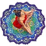 Vandot Tapicería del Hippie Hippy Mandala de Bohemia Tapices India Decoración del Tapiz Colgante de Pared Decorativo étnico urbano de Gobelino, ideal para usar como playa pareo, decorar una pared, sábana para meditar en yoga, Redondo130x130 cm, Violeta