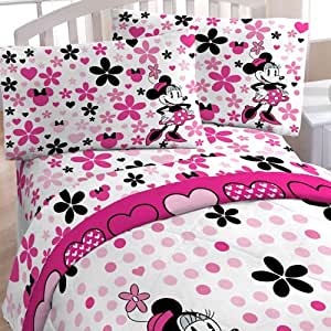 Disney Minnie Mouse Daisy Dots Full-Double Bed Sheet Set