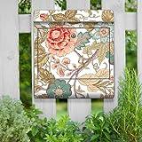motivX Kombi Briefkasten Wandbriefkasten mit Motiv Blumenranken Jugendstil