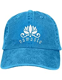 deyhfef Namaste Lotus Flower Unisex Adjustable Cotton Denim Hat Multicolor91 1f0aecaefb1
