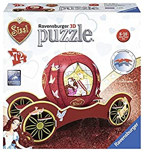 Ravensburger- Puzzle Ball 3D Carriage, Sissi (11795)