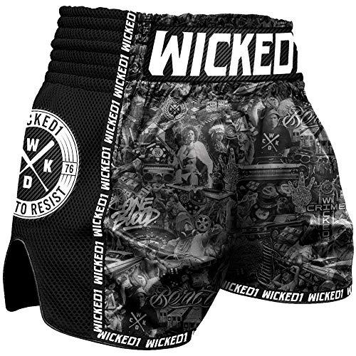 Wicked One Muay Thai Shorts, BTR Größe XXL (Twins Muay Thai Shorts)