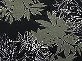 Floral Print Stretch Jersey Knit Kleid Stoff schwarz &