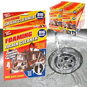 desatascar fregadero: Guaranteed4Less - 4 x foaming desagüe limpiador de pipa para desatascar desagües...