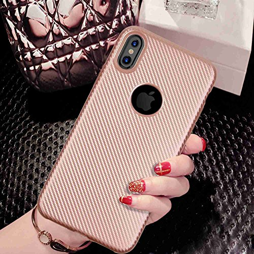 MOONCASE IPhone X Hulle Ultra Slim Flexible TPU Rustung Handyhulle Durable Fallschutz Anti Scratch