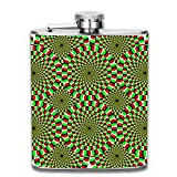 dfegyfr Rotating Snake Illusion 7oz Liquor Whiskey Flask and Premium Box - Stainless Steel and Leak Proof