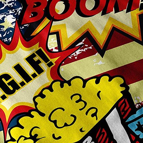 Popcorn Flagge Bundesland USA USA Pop Kunst Damen S-2XL Muskelshirt   Wellcoda Schwarz
