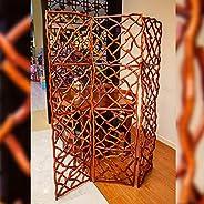 YATAI Bamboo wooden Room Dividers and Folding Net Screens Foldable Portable Rattan Fabric Room Separating Divi