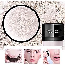 Profesional Polvo de Acabado Suelto Ajuste de Maquillaje Polvo Tono Translúcido Polvo Facial Ligero Y Duradero Control de Aceite(color natural)(tipo hongo) puff)