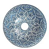 L'Orient Marokkanisches Keramikwaschbecken blau 35cm | Handmade handbemalt handgemacht handgetoepfert orientalisches Waschbecken