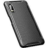 BRAND SET Funda para Samsung Galaxy Xcover Pro Fibra de Carbono Ultrafina Silicona TPU Carcasa Suave a Prueba de Golpes Antid