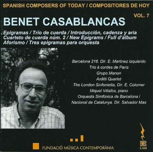 Casablancas: Spanish Composers of Today, Vol. 7 by Arditti Quartet -