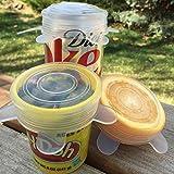 Anpro 7 Stück Silikondeckel Dehnbare Frischhalte Deckel Verschiedenen Größen Silikon deckel Set für Gemüse, Becher, Töpfe, Tassen, Obst -
