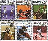 cap verde 407-412 (complète.Edition.) 1980 Jeux Olympiques Été (Timbres pour les collectionneurs) Basket-ball/volley-ball/handball