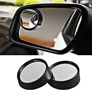 1 Paire de Voitures Blind Spot Miroirs Grand Angle r/églable Stick-on R/étroviseur