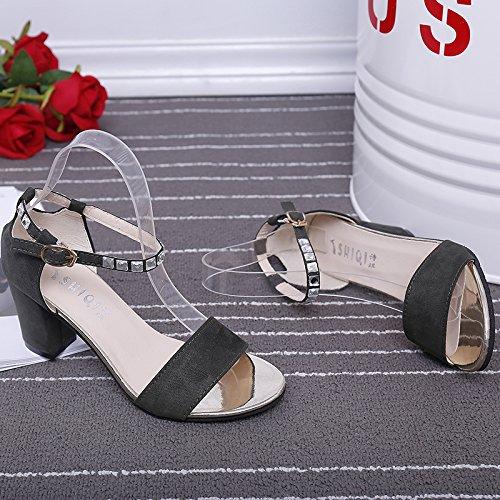 XY&GKDamen Sommer Sandalen Mädchen mit Schuhen 39 green