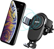 CHOETECH Wireless Car Charger, Qi Fast Wireless Charger Car Phone Mount Air Vent Stand,7.5W Compatible with Apple iPhone XS/