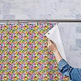 AZ Handprint Washable Waterproof Shower Curtain 54 x 84inch; SET OF 2 PCS