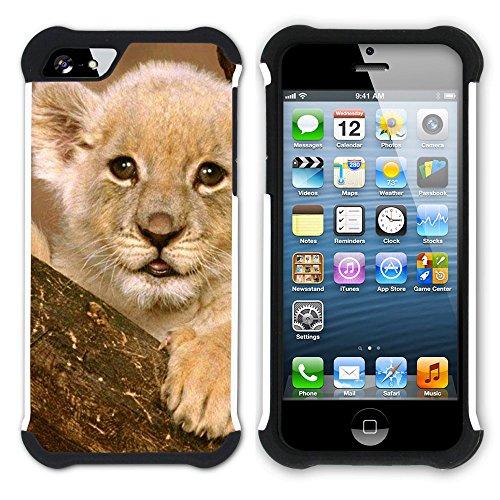 Graphic4You Baby Tiger Tier Design Hart + Weiche Kratzfeste Hülle Case Schale Tasche Schutzhülle für Apple iPhone SE / 5 / 5S Design #6