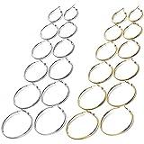 18 Paia orecchini a cerchio, Orecchini per donne Ragazze Orecchini, Acciaio Inossidabile Cerchio OrecchiniSet, Personalità Se